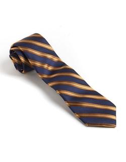 Black Brown 1826  - Classic Fit Silk Striped Tie