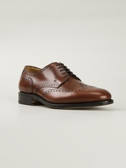 Salvatore Ferragamo  - Brogue Detailed Oxford Shoes