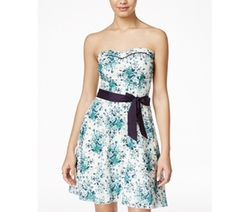 Speechless  - Strapless Floral-Print Dress