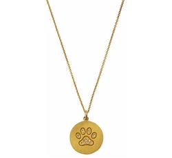 Roberto Coin - Paw Disc Pendant Necklace