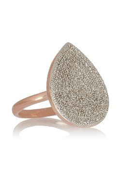 Monica Vinader  - Rose Gold Plated Diamond Ring