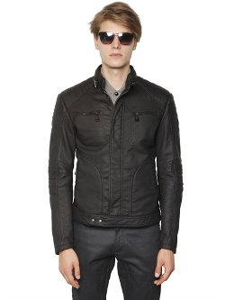 Belstaff  - Rubberized Jersey Moto Jacket