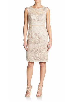 JS Boutique  - Floral-Embroidered Sheath Dress