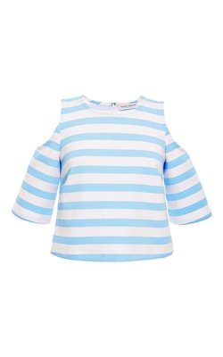 Tanya Taylor  - Stripe Iris Crop Top