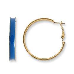 Joe Boxer  - Neon Blue Hoop Earrings