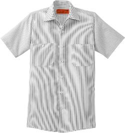 Cornerstone  - Short Sleeve Striped Industrial Work Shirt