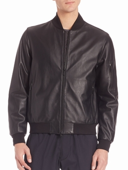 Z Zegna - Nappa Leather Padded Bomber Jacket