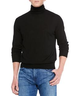 Neiman Marcus   - Cashmere/Silk Turtleneck Sweater
