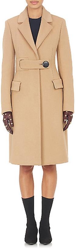 Balenciaga - Belted Melton Coat