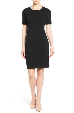 T Tahari - Judianne Short Sleeve Sheath Dress