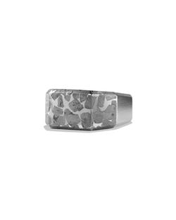 David Yurman - Meteorite Inlay Signet Ring