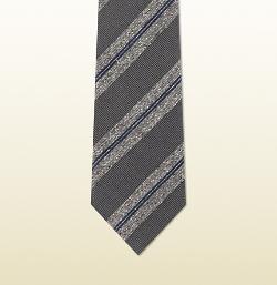 Gucci - Striped Woven Silk Tie