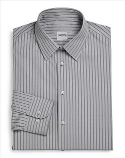 Armani Collezioni - Deco Striped Dress Shirt