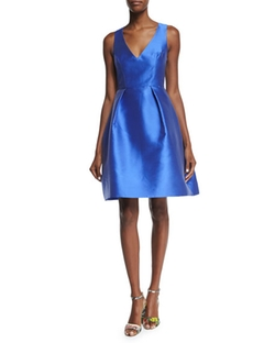 Monique Lhuillier - Sleeveless Fit-&-Flare Dress
