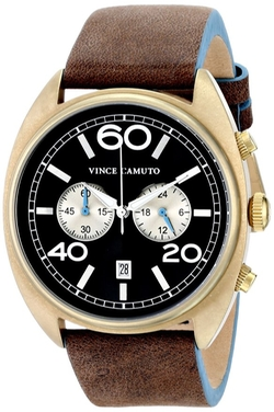 Vince Camuto  - The Transporter Chronograph Leather Strap Watch