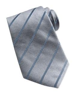 Giorgio Armani - Dotted Stripe Silk Tie