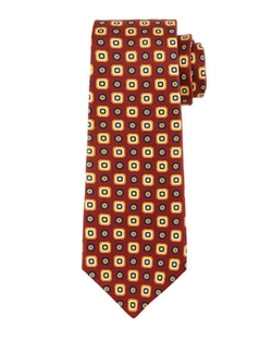 Kiton  - Small Medallion-Print Silk Tie