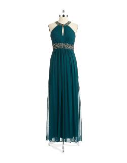 Xscape  - Beaded Halter Gown