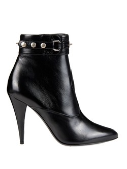 Saint Laurent  - Fetish Studded Leather Ankle Boots