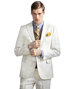 Brooks Brothers - The Great Gatsby Collection Ivory Linen Jacket