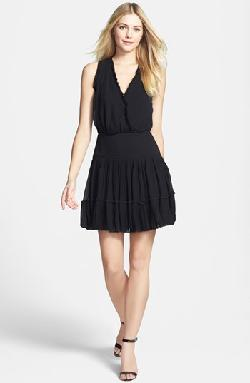 Nicole Miller  - Ruffle Fit & Flare Dress