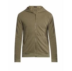 ATM - Zip-Through Hooded Cotton Sweatshirt