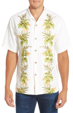 Tommy Bahama - Original Fit Embroidered Silk Camp Shirt