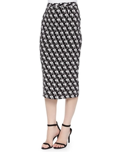 A.L.C. - Bell Dancers-Print Midi Pencil Skirt