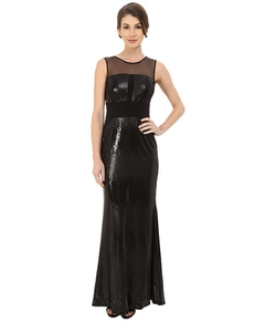 Calvin Klein - Sequin Gown at Illusion Yoke