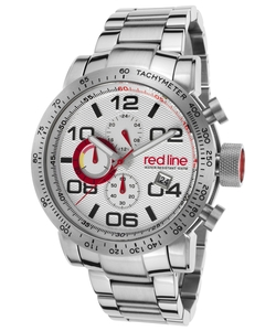 Red Line - Night Rally Chronograph Stainless Steel Silver-Tone Dial Watch