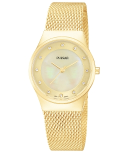 Pulsar - Gold-Tone Mesh Bracelet Watch