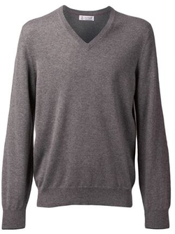 Brunello Cucinelli   - V-Neck Sweater