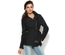Kenneth Cole - Asymmetrical-Zip Belted Jacket