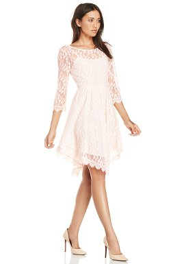 Dailylook  - Eyelash Lace Fit And Flare Dress