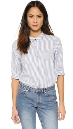Chinti and Parker - Heart Pocket Button Down