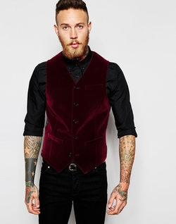 Asos - Slim Vest in Velvet