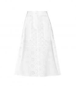 Valentino  - Cotton-Blend Broderie Anglaise Skirt
