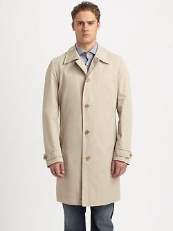 Hugo Boss - Fern Button-Front Raincoat