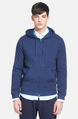 Vince  - Mélange Jersey Lined Hoodie