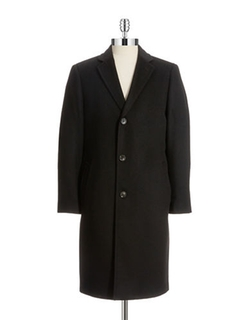 Black Brown 1826 - Wool/cashmere Walker Coat