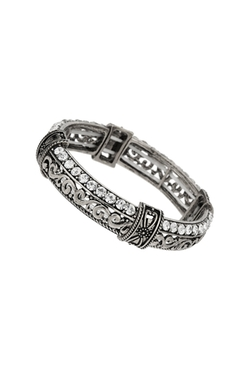 Wallis - Filigree and Rhinestone Bangle