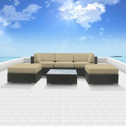 Luxxella - Wicker Patio Sofa Set