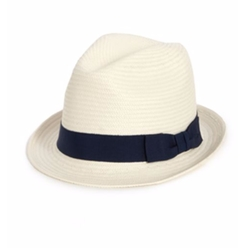 Saks Fifth Avenue Collection - Grosgrain-Trimmed Fedora Hat