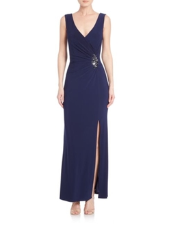 Laundry By Shelli Segal  - Embellished Wrap Gown