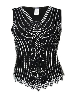 MSK - Caviar Beaded Elegant Tank Top