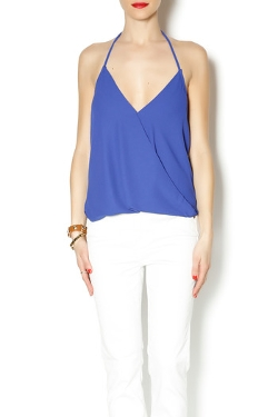 Olivaceous - Cobalt Blue Halter Top