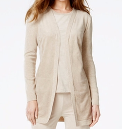 Calvin Klein - Faux-Suede-Front Cardigan