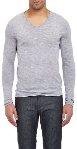Barneys New York - Cashmere V-Neck Sweater