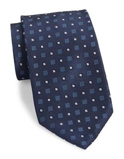 Black Brown 1826  - Squared Silk Tie