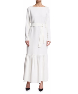 The Row - Lulchin Long-Sleeve Belted Maxi Dress